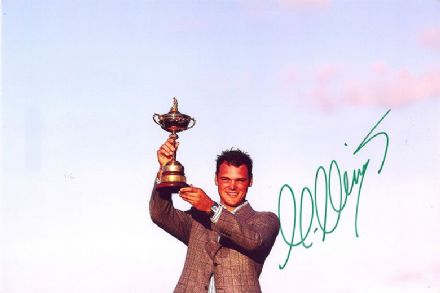 Martin Kaymer, Ryder Cup, signed 12x8 inch photo.